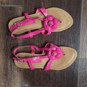 Women's Size 7 Pretty Pink Color Flat Sandals